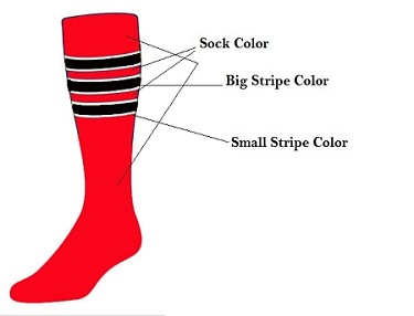 Twin City Custom Stripe Knee High Socks (Style D)