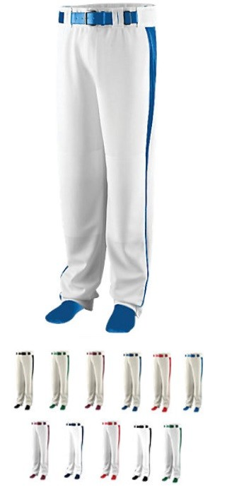 Augusta 14 oz Triple Play Baseball Pants (open bottom)