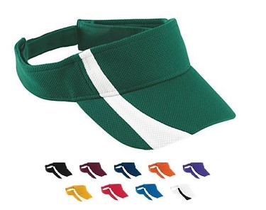 Augusta Adjustable Wicking Mesh Two Color Visor