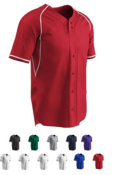 Champro Cycle 2 Button Faux Button Down Baseball Jersey-CLOSEOUT