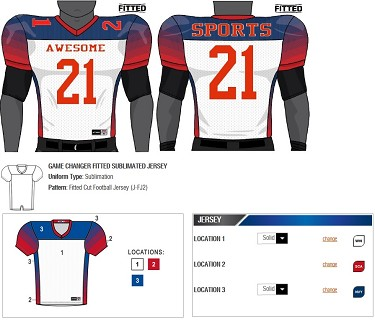 Champro Custom Football Jersey (Game Changer) - Sublimated Football Jersey 886c54189