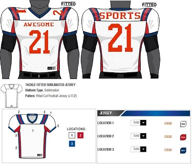 Champro Custom Football Jersey (Tackle) - Sublimated Football Jersey db047d183
