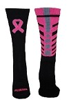Pearsox Breast Cancer Awareness Spine Crew Socks