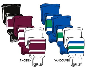 Pearsox  Pro Weight Hockey Socks - Arizona or Vancouver