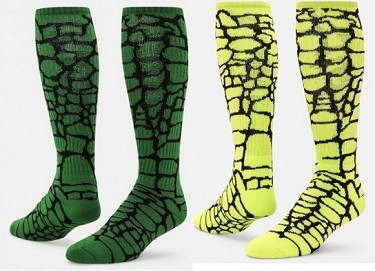 93287b1f833 Gator Knee High Socks by Red Lion - Crazy and Funky Socks