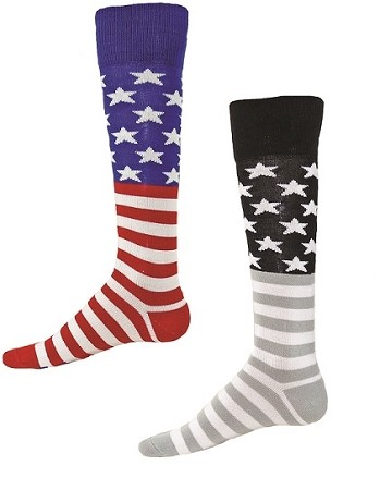 Red Lion Glory Stars And Stripe Knee High Socks Closeout