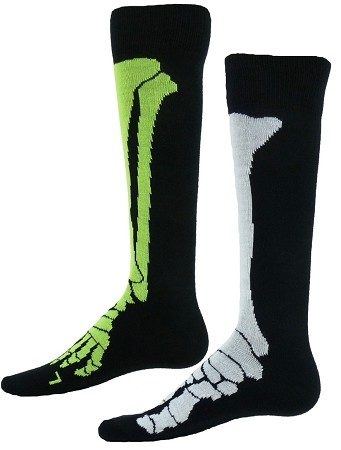 2955260d0 X Ray Skeleton Knee High Socks by Red Lion