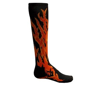 Red Lion Flame Knee High Socks