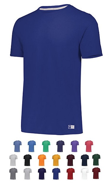 Russell Essential Short Sleeve Tee with Sun Protection