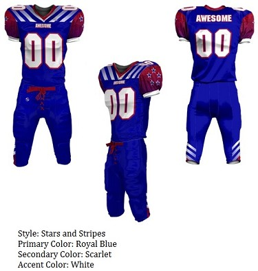 3b8e5ea6e Teamwork Custom Football Uniforms (Stars and Stripes) - Sublimated Football  Jersey