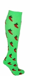 Custom Knee High Socks by Pearsox - Chilli Pepper  (3301SC)
