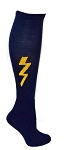 Custom Knee High Socks by Pearsox - Lightning Bolt (PCBOLT1)