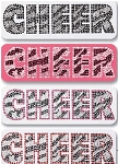 Pizzazz Bling Heat Set Rhinestone Designs Zebra Cheer  (Style 3)