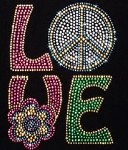 Pizzazz Bling Heat Set Rhinestone Designs Love (Style 5)