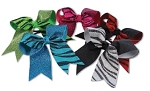 Hair Bows by Pizzazz  - Zebra Glitter Twister