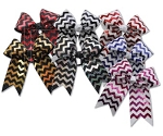Hair Bows by Pizzazz - Chevron Deco Sparkle