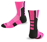 Clearance Profeet Pink 3 Pointer Crew Sock