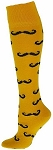 Clearance Red Lion Gold Mustache Knee High Socks