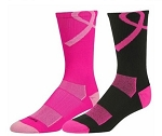 Breast Cancer Ribbon Crew Socks