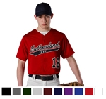 Alleson Faux Front Button Baseball Jersey