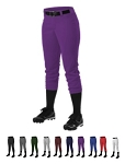 Softball Pants by Alleson with w/Belt Loops  - #605PBW