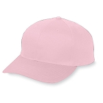 Pink Baseball Cap by Augusta - Six Panel Cotton Twill Low Profile Cap
