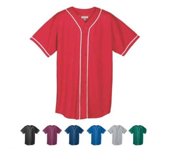 Augusta Activewear Boys Wicking Mesh Button Front Jersey