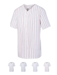 Augusta Pinstripe Full Button Down Baseball Jersey