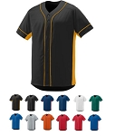 Full Button Baseball Jersey by Augusta - Slugger