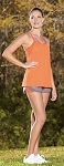 Augusta Ladies Sadie Tank and Shorts-CLOSEOUT