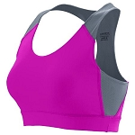 Augusta Ladies Pink Sports Bra