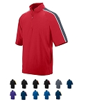 Short Sleeve Pullover Warmup Jacket by Augusta - Quantum