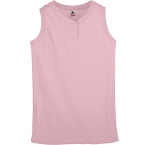 Pink Two Button Sleeveless Jerseys by Augusta