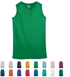 2 Button Sleeveless Women/Girls' Jerseys by Augusta