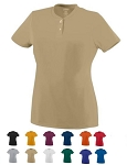 Augusta Ladies & Girls Wicking Two-Button  Jersey Closeout