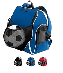Sports Ball Backpack by Augusta - Tri-Color Closeout