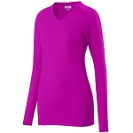 Augusta Assist Long Sleeve Pink Volleyball Jersey