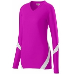 Augusta Dig Pink Long Sleeve Volleyball Jersey-CLOSEOUT