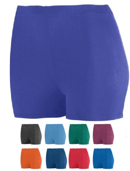 Red Small Girls Poly//Spandex 4 Short