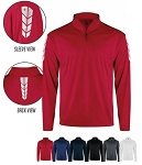 Pullover Long Sleeve by Badger -  1/4 Zip Metallic -CLOSEOUT