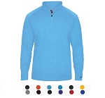 Pullover Long Sleeve by Badger - 1/4 Zip Tonal Blend