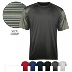 Short Sleeve Tees by Badger - Sport Stripe-CLOSEOUT