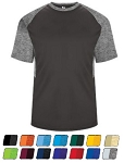 Short Sleeve Tees by Badger - Tonal Blend Panel