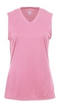 Badger Pink B-Core Ladies/Girls Sleeveless Tee