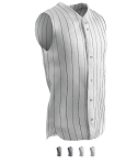 Sleeveless Full Button - Baseball Jersey by Champro - Pinstripe Ace