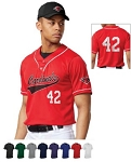Heater 2 Button Piped Baseball Jersey by Champro