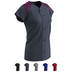 Champro Circuit Digi Camo Button Down Softball Jersey-CLOSEOUT