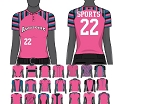 Champro Custom Sublimated Women's/Girls' Short Sleeve Two-button Jersey