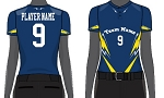 Custom Juice Sublimated Women/Girls' Two-Button Short Sleeve Jersey-Drive