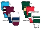 Pearsox Pro Weight Hockey Socks - Colorado or Minnesota
